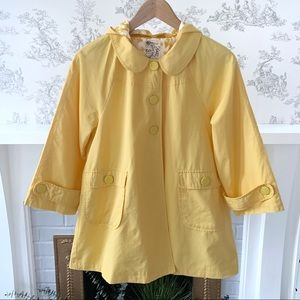 Anthropologie Tulle Brand Yellow Hooded Jacket